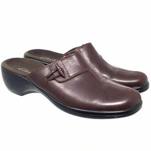 Clarks Women's Shoes Sz Us 6M Brown Mules Clogs